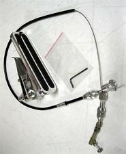 "Street Rod Eliminator Floor Mount Gas Pedal 36"" BLACK Throttle Cable"