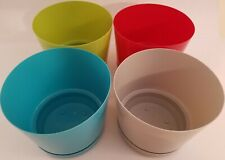 Glossy Plastic Planters w Saucers 5.3�H x 6.3�D, Select: Color