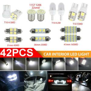 42x Combo LED Car Interior Inside Light Dome Map Door License Plate Lights White