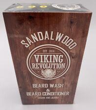 Beard Wash & Conditioner Set W/Argan Jojoba Oils Softens Strengthens Viking Rev