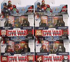 Marvel Minimates Series 67 Captain America Civil War Two-Pack - Set of 4 NEW