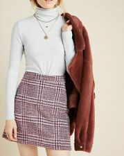 Anthropologie Skirt Maeve Womens Size M Mini Pencil Print Textured Knit NEW NWT