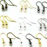 200Pcs Earrings Hook Coil Ear Wire Clasps For Jewelry Making Findings Wholesale