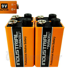 4 x Duracell Industrial 9V 6LP3146 batteries Block PP3 LR22 MN1604 6LR61 EX:2020