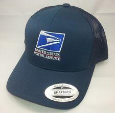 USPS Embroidered Trucker Mesh Snapback Hat NAVY BLUE Yupoong / USPS LOGO1 Cap