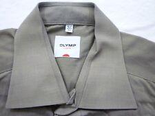 E7875 Olymp Luxor Businesshemd Kombimanschette 42 dunkelgrün glänzend meliert