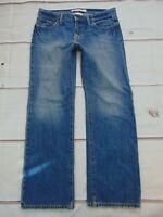 Gap Straight Leg Boyfriend Stressed Denim Jeans Women's Size 8A Medium Wash 8 A