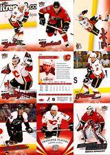 2008-09 UD Fleer Ultra Calgary Flames Master Team Set w/ RC's (12)