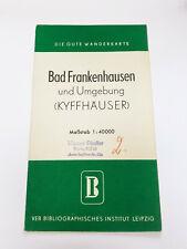 Die Gute Wanderkarte: Bad Frankenhausen und Umgebung (Kyffhäuser), DDR 1955