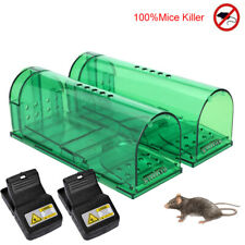 2x Rodent Animal Mouse Humane Rat Live Trap Cage Mice Rat Bait Catch and release