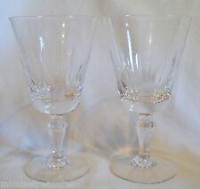2 Fostoria Tiara Cut Water Glasses Stem 6104 #903 Vertical Glass Crystal