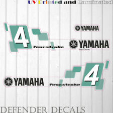 Yamaha 4HP Four Stroke  outboard engine decal sticker reproduction white cowling
