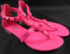 Rock & Republic Women's Neon Pink Studded Sandals Size 7 M  RN # 73277