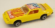 "Yatming #1030 1980 Pontiac Firebird TransAm Yellow ""New York"" 1/64 Scale Diecast"
