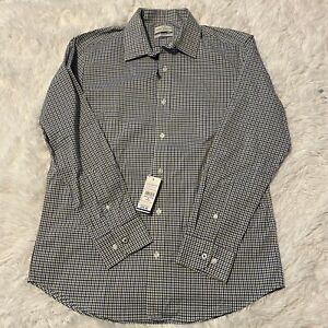Lucky Brand Mens Size M 15.5 32/33 Long Sleeve Button Down Dress Shirt NWT
