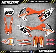 Custom graphics full kit SHOCKWAVE style fits KTM SXF 250 450 2016 2017 2018