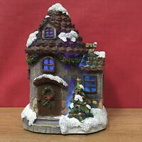 Large Christmas House with LED Lights, Seasonal Decor Indoor Outdoor Garden