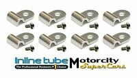 "3/16"" Stainless Steel Brake Line Clamps Clips Screws STREETROD RATROD HOTROD 16p"