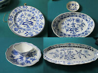 MEISSEN BLUE ONION  WARMING PLATE TRAY DISH CUP SAUCER PICK ONE 1-