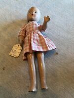 "Vintage 1930-1940 Doll 9"" With Dress Foreign Madame Alexander Jointed Doll"