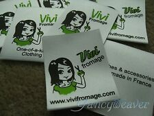 Custom 1000pcs Printed Satin Labels (2-4 colors) for Clothing/ Sewing/ Handmade