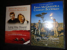 5 DVD Set Long Way Round & Down Complete TV Series Ewan McGregor Charley Boorman