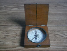 Rare antique needle operating wooden compass STANLEY LONDON (WWI).