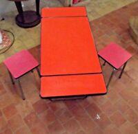 Ancien Tabouret chaise revêtement formica pour les plateaux garden décoration ca