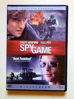 Spy Game DVD Collectors Edition Widescreen Robert Redford Brad Pitt Free Shipp.