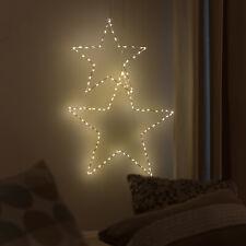 Fenster Stern Micro LED warmweiß Drahtstern Weihnachtsstern outdoor 40/60 cm