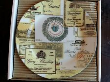 "I Godinger & Co. - Set of 4 dessert plates - Wine Labels 7.5"" in diameter"