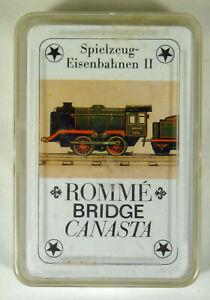 Altenburger Rommé / Canasta, Bridge Spiel: Spielzeugeisenbahnen II, neu
