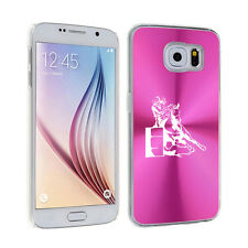 For Samsung Galaxy S7 S4 S5 S6 Edge + Hard Case Female Barrel Racing Cowgirl
