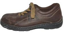 GBX Mens Brown Leather Lace Up Casual Shoes Sz 11 A174
