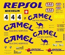 #4 Camel Porsche 962 C 1/64th HO Scale Slot Car Decals