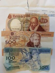 1100 portugal escudos banknotes currency