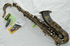 Prof. TAISHAN Antique Bb Tenor Saxophone Fine Engraving low B to high F# +Case