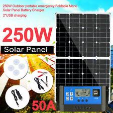 250W 12V Flexible Solar Panel Kit Sunpower Battery Charger Caravan Camping Boat
