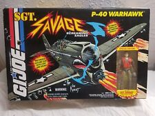 GI Joe SGT SAVAGE P-40 WARHAWK 1994 With Special Edition SGT SAVAGE
