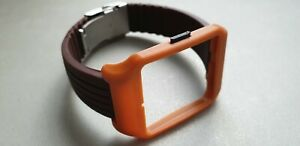 Sony SmartWatch 3 SWR50 BROWN Adaptor & Brown Silicone Strap and Clasp