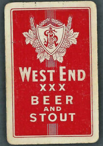 Vintage Swap Playing Card   Advertising West End Beer & Stout