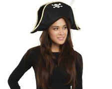 Dress Up America Adult Foldable Pirate Hat - Costume Accessory for Adults