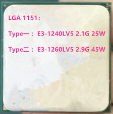 Intel Xeon E3-1240LV5 E3-1260LV5 LGA1151 Quad-Core CPU Processor