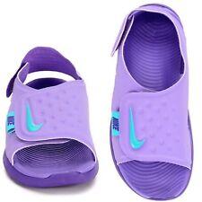 New listing Nwt Nike Sunray Adjust 5 Purple Baby Blue Sandal Girls Kids Size Youth 7