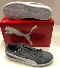 Nib Mens Puma Smash SD Gray White Suede Casual Shoes 9