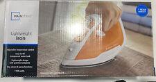 Mainstays Lightweight Iron Orange/ White 1100 watts - New. B1