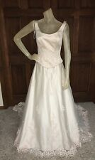 Jordan Wedding Dress Womens Size 8 Light Pink Thread beaded