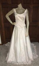 Jordan Wedding Dress Womens Size 8 Light Pink Thread beaded