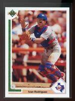 1991 upper deck final edition #55f IVAN RODRIGUEZ texas rangers ROOKIE card