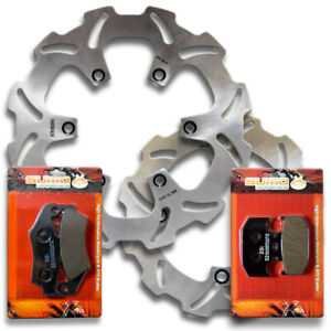 Front+Rear Performance Brake Disc Rotors +Pads for Suzuki DR650 S/SE [1996-2020]